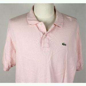 Lacoste 7 Pique Polo Shirt MENS 2XL Pink A4-14